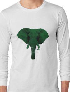 Green Elephant Long Sleeve T-Shirt