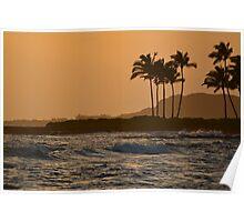 Ocean Sunset in Hawaii Poster