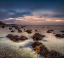 Sunset On The Rocks by manateevoyager