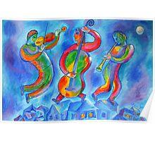 Klezmer Music in Jewish Shtetl (Village) Poster