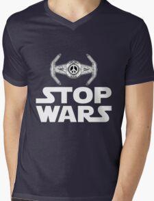 Stop Wars [Hippy Ye] Mens V-Neck T-Shirt