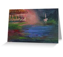 The Runaway Horse Carousel Painting Greeting Card