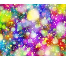 Colorful Rainbow Drops of Bokeh Sticker