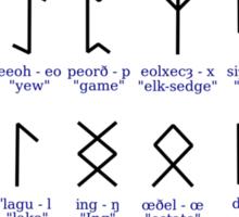 Anglo-saxon rune chart Sticker