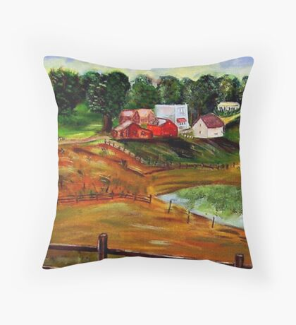 Drive-by  Landscape Throw Pillow