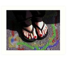Painted Toenails   Art Print
