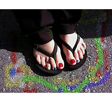 Painted Toenails   Photographic Print