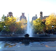 Fountain in NYC by JoeyMercado15