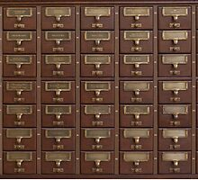 Vintage Library Card Catalog Drawers by pdgraphics
