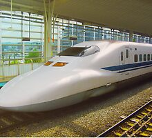 Shinkansen bullet train, Japan by Bruno Beach