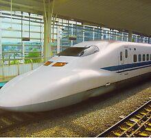 Shinkansen bullet train, Japan by Bruno Beach