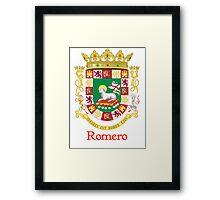 Romero Shield of Puerto Rico Framed Print