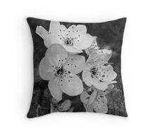 A blessing come with white petals Throw Pillow