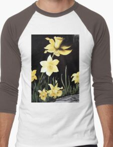 Daffodil Magic Men's Baseball ¾ T-Shirt