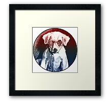 Dog With Glasses Framed Print
