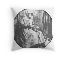 Old Dog Maid - Black and white Throw Pillow