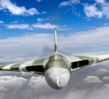 Avro Vulcan head on above clouds Sticker