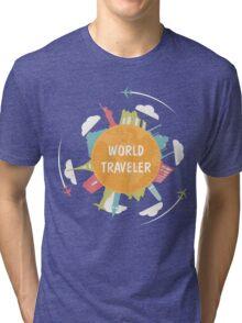 World Traveler Tri-blend T-Shirt
