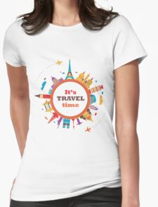 It's Travel Time Womens Fitted T-Shirt