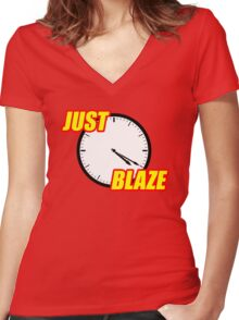 Just Blaze Women's Fitted V-Neck T-Shirt