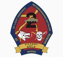 2nd Light Armored Reconnaissance Battalion - 2nd Marine Division - Victory To The Bold by VeteranGraphics