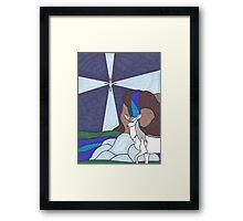 Tarot - The Star - Unicorn Framed Print