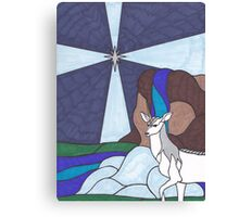 Tarot - The Star - Unicorn Canvas Print