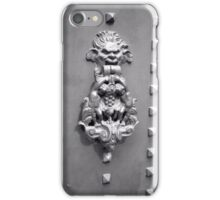 Knock Knock, Who's There? iPhone Case/Skin