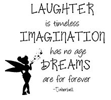 Tinkerbell quotes Photographic Print