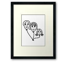 Balloon family sports Framed Print