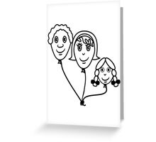 Balloon family sports Greeting Card