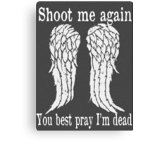 Daryl Dixon The Walking Dead Canvas Print