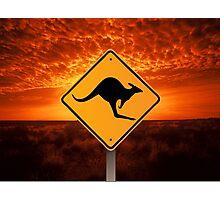 Be Careful Kangaroos! Photographic Print