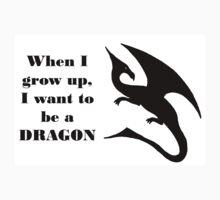 When I Grow Up - Dragon Kids Tee
