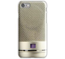 Vintage Silver Microphone Audiophile iPhone Case/Skin