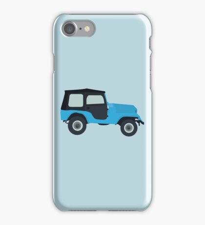 Stiles Stilinski Jeep CJ5 1976, Roscoe / Teen Wolf iPhone Case/Skin