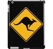 Be Careful Kangaroos! iPad Case/Skin