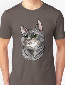 Blue Tabby Portrait~ Silver Unisex T-Shirt