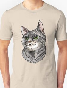 Blue Tabby Portrait~ Silver T-Shirt