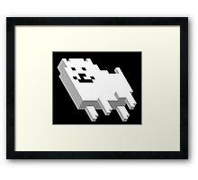 Cute Pixel Dog Framed Print