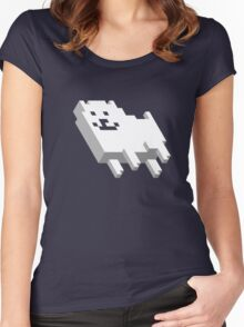 Cute Pixel Dog Women's Fitted Scoop T-Shirt