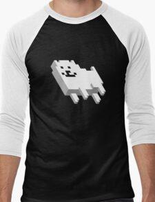 Cute Pixel Dog Men's Baseball ¾ T-Shirt