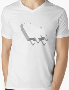 Cute Pixel Dog Mens V-Neck T-Shirt