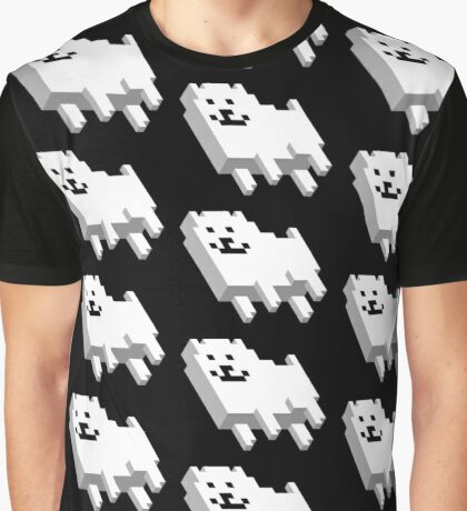 Cute Pixel Dog Graphic T-Shirt