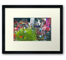 Rainy Powell Street Morning Framed Print