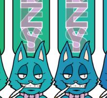 Bottle Cats Blue/Green Sticker