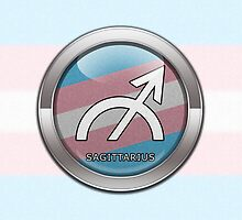 Sagittarius - Transgender Pride  by LiveLoudGraphic