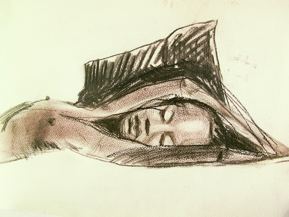 Raisa lying down hands above head by donna malone
