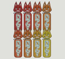 Bottles Cats Red/Orange by DZYNES