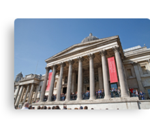 The National Gallery in Trafalgar Square London Canvas Print